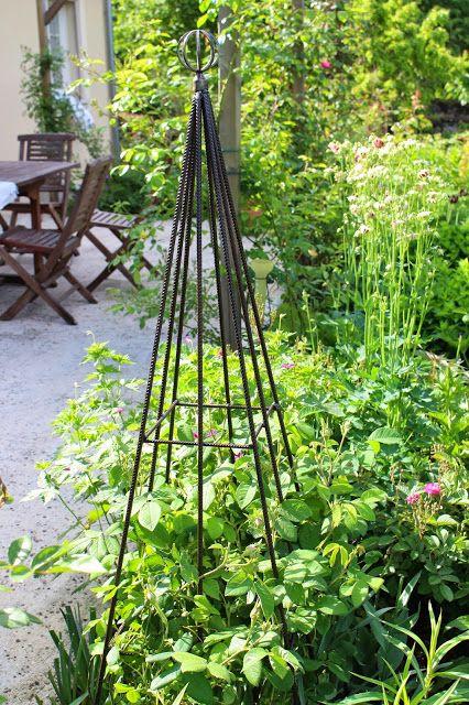 """fer à béton + embout de tringle Super idée du Blog """"Notre jardin secret"""""""
