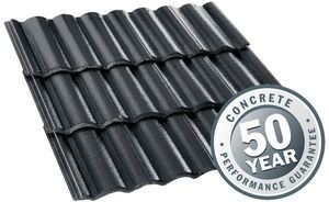 Roof tiles - soho night with elababa profile (Monier)