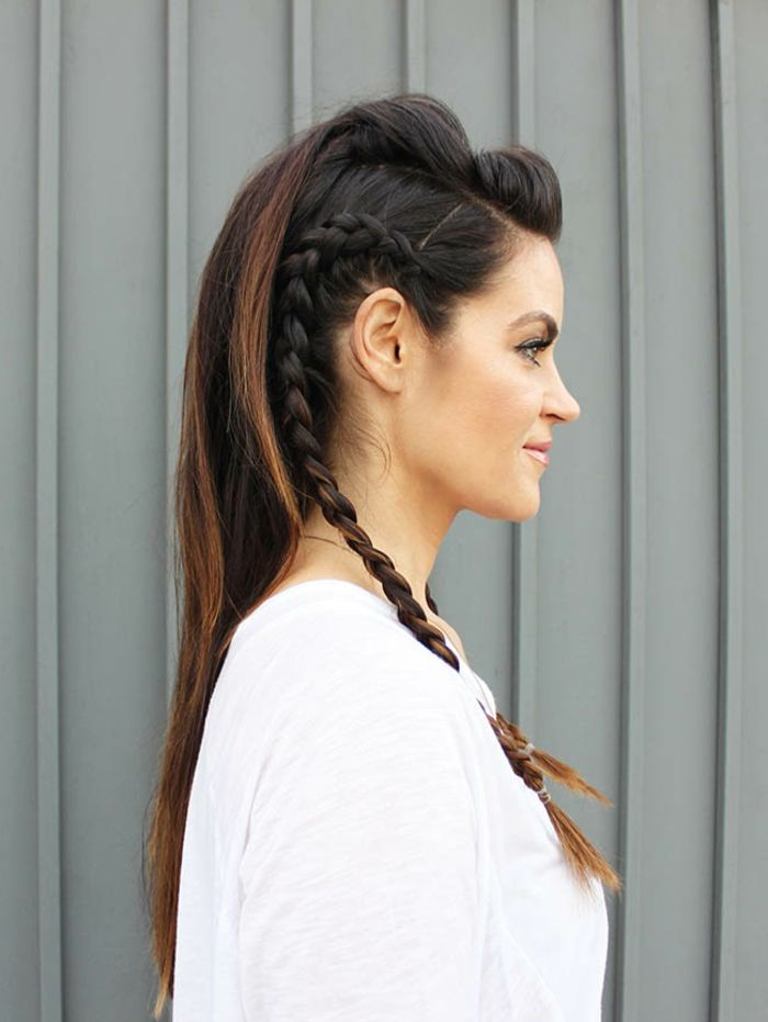 coiffure viking fille
