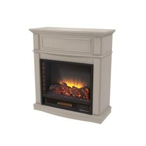 Home Decorators Collection Niya 32 In. IR Electric Fireplace In Bleached  Linen