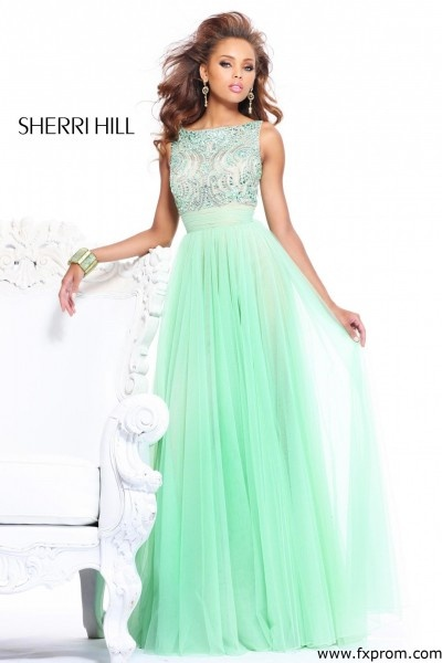 Sherri Hill 11022 V16126-02 | THIS. This is my dream dress... Especially the bow in the back. #prompinparty