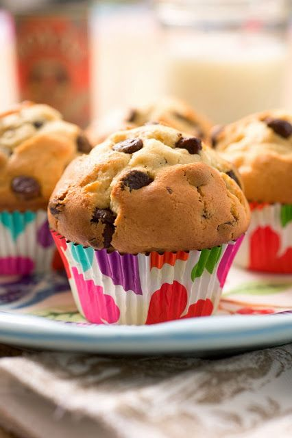 Perfectly Sweet Chocolate Chip Muffins