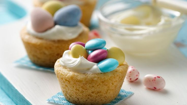 Enjoy a sweet bite with the combination of sugar cookie and fluffy filling in a tiny cookie cup.
