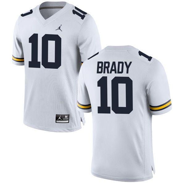 Tom Brady Michigan Wolverines Brand Jordan Alumni Football Jersey - White