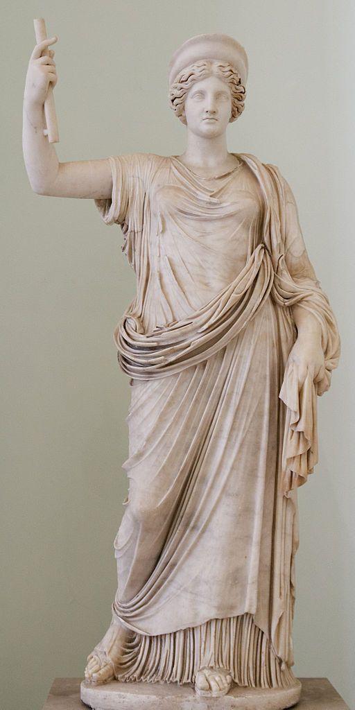 Juno (Hera), Roman statue (marble) copy of Greek original, 1st century AD (original 4th c. BC), (Museo Archeologico Nazionale, Naples).