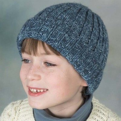 Knitting Pattern Ribbed Bobble Hat : 285 best Childrens Knit Patterns images on Pinterest ...