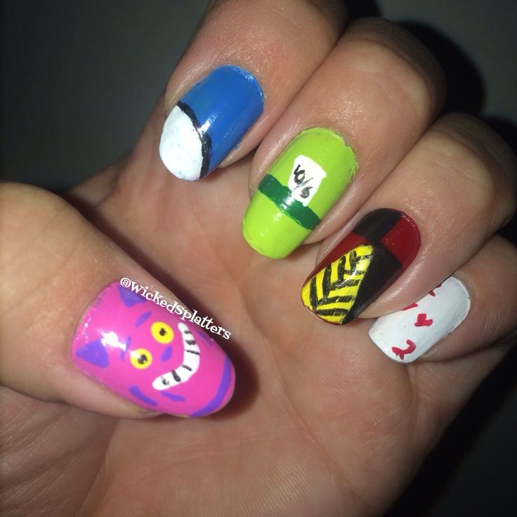 47 best my wicked splatters nail art images on pinterest alice in wonderland nail art prinsesfo Choice Image