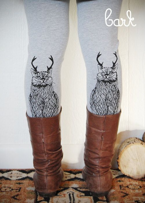 Hey, I found this really awesome Etsy listing at https://www.etsy.com/listing/115166017/wild-catalope-leggings-womens-grey