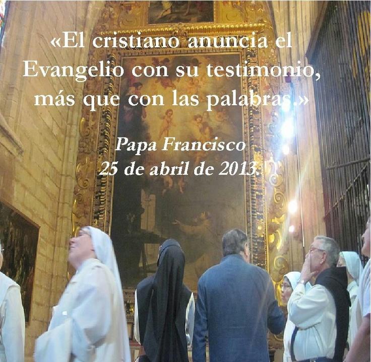 Proclamar con el testimonio! Leer más en: www.news.va/es/news/que-el-cristiano-sea-humilde-y-no-tema-hacer-cosas