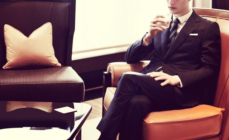 Shirt by Burberry London  Handkerchief by Derek Rose  Tie by Drake's  Socks by Bresciani  Suit by Gucci  (via. Mr. Porter)