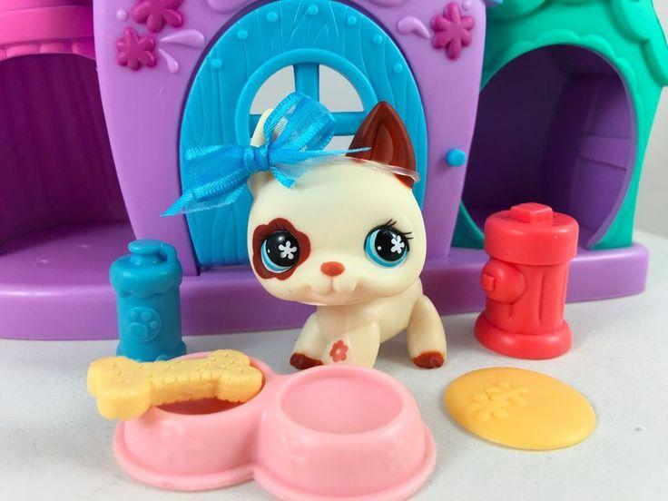 Littlest Pet Shop RARE Cream/Brown German Shepherd #544 w/Doghouse & Accessories #Hasbro