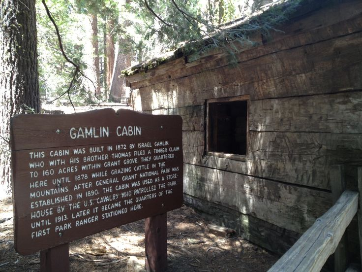 The historic Gamlin Cabin in Kings Canyon National Park, California.