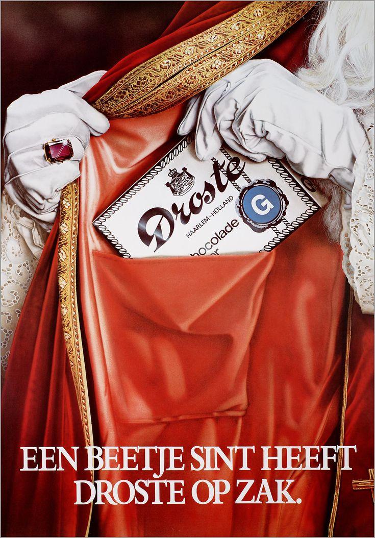 """""""Een beetje Sint heeft Droste op zak""""- Droste, Haarlem. - the Memory of the Netherlands"""