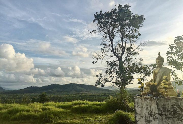 View out over rural Ranong from the Ngao Temple