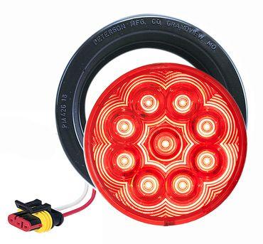 """LED817SKR-9 --- Red LED LumenX® 4"""""""" Round Strobe Light kit"""