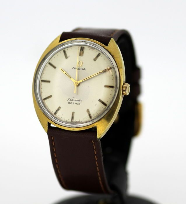 Currently at the #Catawiki auctions: Omega Seamaster Cosmic, Men's Vintage Gold Plated Manual Winding Wristwatch -...