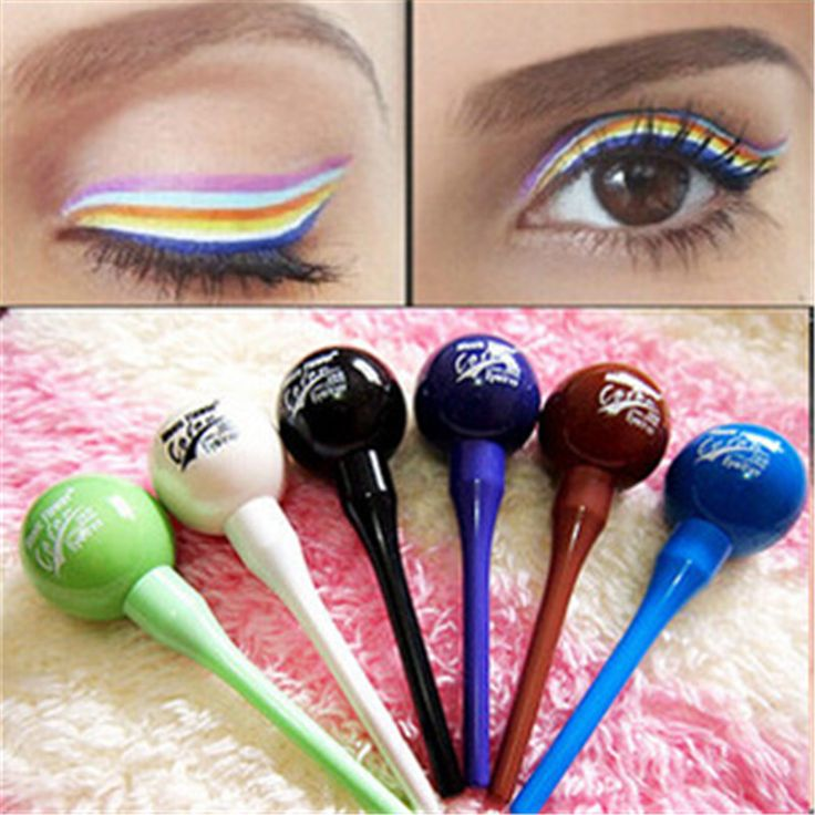 Candy Hairline Lollipop Shape Cosmetic Waterproof Liquid Eyeliner Eye Liner Makeup Popular
