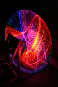 1.6 Toroid, prostorové kresby led diodami na anuloidu,model 1m, 2013
