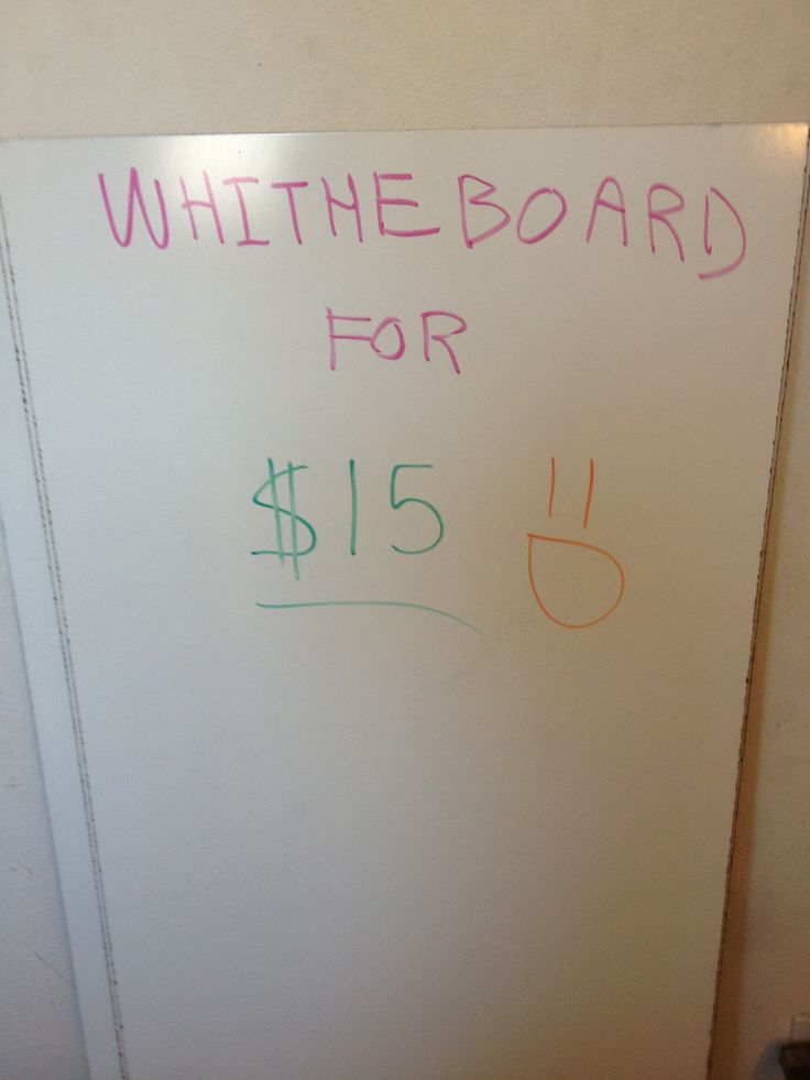 How to Make a Ghetto White Board for Cheap! (Less than $15!) #DIY #Awesome #Homemade