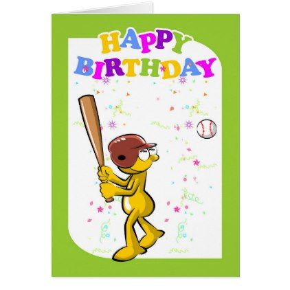 Happy birthday to the best baseball player card - birthday cards invitations party diy personalize customize celebration