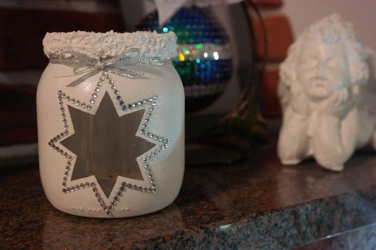 Sunflower - u mnie na wsi: Świąteczny lampion ze słoika - DIY