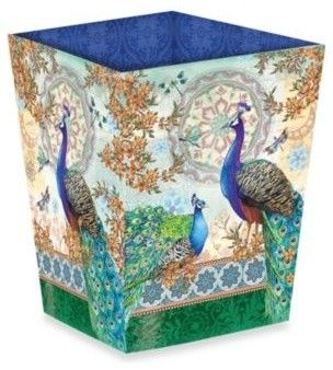 Royal Peacock Waste Basket contemporary-waste-baskets @ Bed, Bath and Beyond