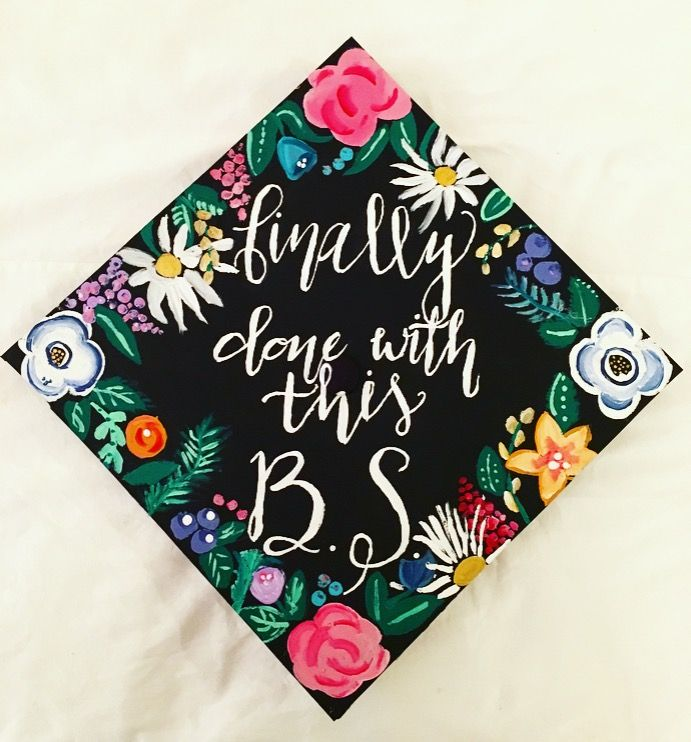 Bachelor of science graduation cap.