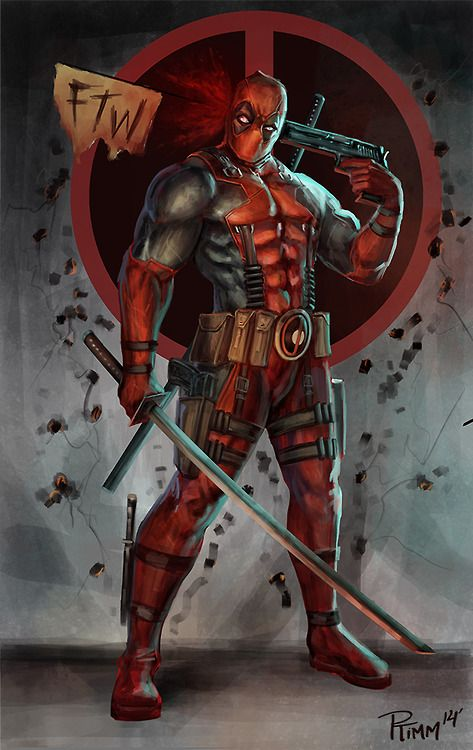 I seriously cannot help but like Deadpool. I tried to resist but too much awesome. Illustration by PTimm.