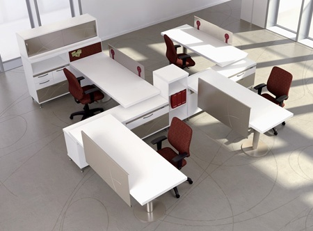 79 best open office workstations images on pinterest hon Open office furniture
