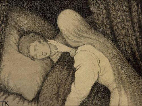 """""""White Bear King Valemon"""" by Theodor Kittelsen"""