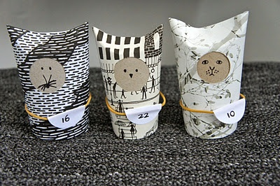 toilet paper rolls - Advent calender | Ideas from the forest