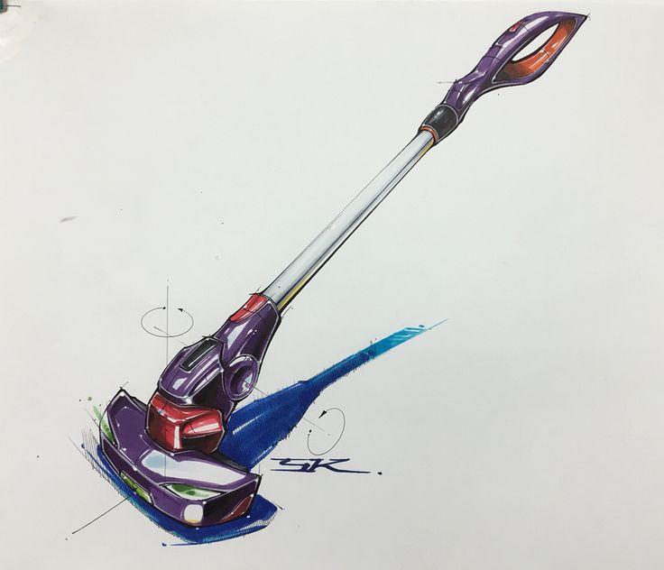 Vacuum cleaner marker rendering on Behance
