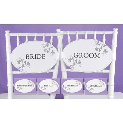 Bride & Groom - Wedding Party Chair Decorations