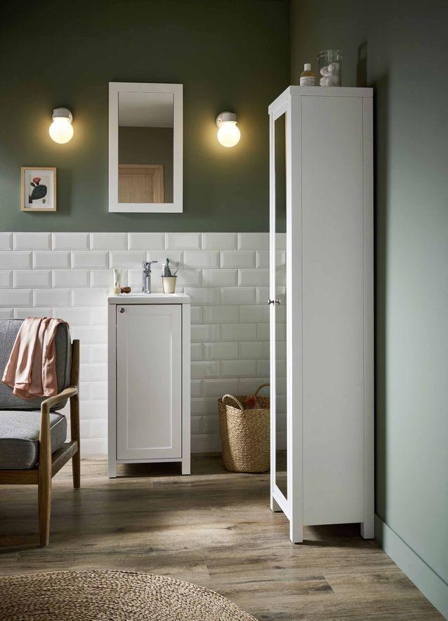 20 meubles pour une petite salle de bains - Elle Décoration Salle - Meuble Avec Miroir Pour Salle De Bain