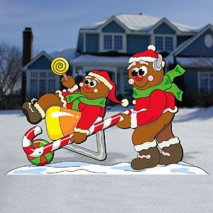 "Gingerbread Wheelbarrow Pattern:  36""T x 57""W  Pattern #2333  $11.95    ( crafting, crafts, woodcraft, pattern, woodworking, yard art ) Pattern by Sherwood Creations"
