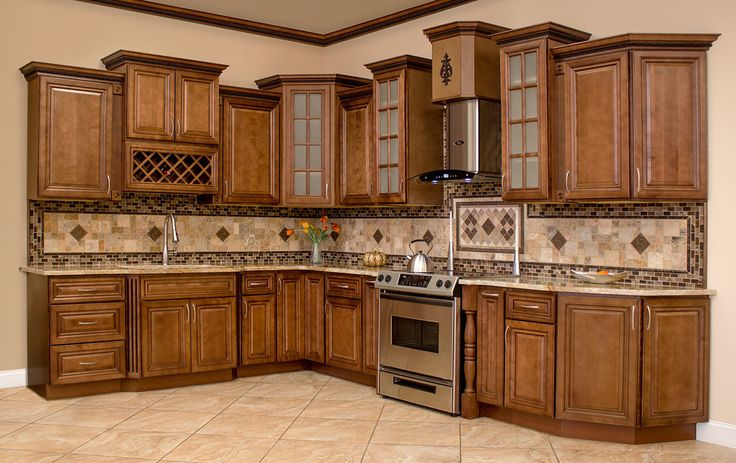Best Cherry Kitchen Cabinets Wood Cabinets 10X10 Rta Kitchen 400 x 300