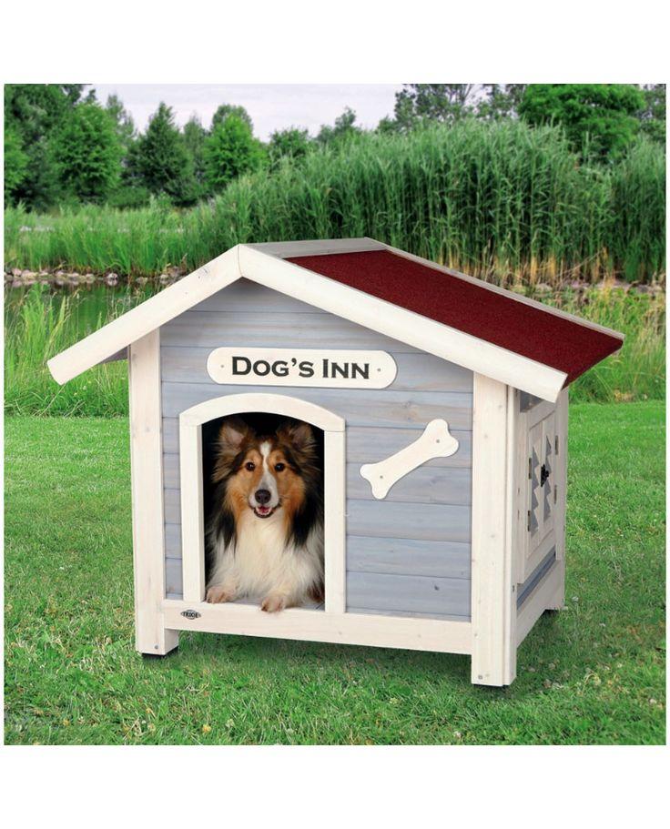 Hundkoja med Sadeltak - Dog's Inn - Hundbur - Trixie - Rastgård - DjurMaxi.se