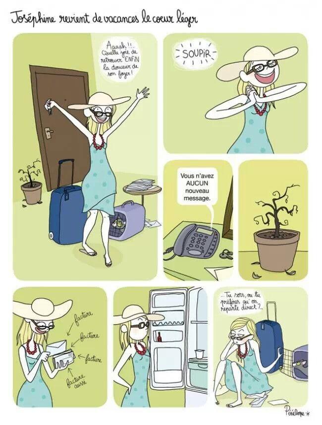 Josephine revient des vacances  #Citation #Humour #HistoireDrole #rire #ImageDrole #myfashionlove www.myfashionlove.com