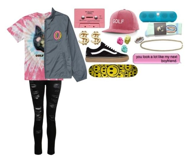 """Lil hoodrat//rapper oc"" by intervirtual ❤ liked on Polyvore featuring Dorothy Perkins, ODD FUTURE, ASOS, Beats by Dr. Dre and Fallon"