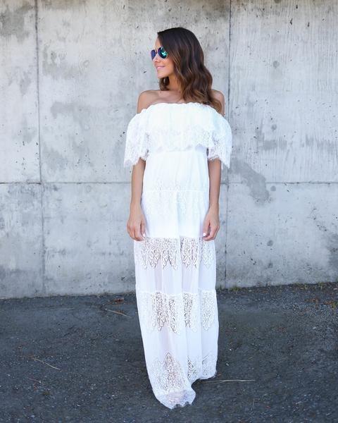 Name Of Love Lace Maxi Dress - White - FLASH SALE – VICI