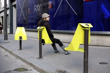 Urban seat by Plan B for Designer's Days 2009 on Hacking Street (France?) - photo by Justin Westover, via diisign