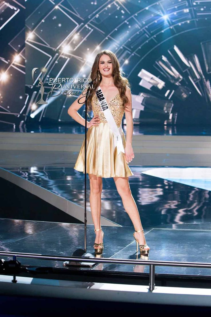 MISS UNIVERSE 2015 :: PRELIMINARY COMPETITION OPENING | Megi Luka, Miss Universe Albania 2015, on stage in fashion by Sherri Hill and footwear by Chinese Laundry during the opening of The 2015 MISS UNIVERSE® Preliminary Show at Planet Hollywood Resort & Casino Wednesday, December 16, 2015. #MissUniverse2015 #MissUniverso2015 #MissAlbania #MegiLuka #PreliminaryCompetition #Opening #LasVegas #Nevada