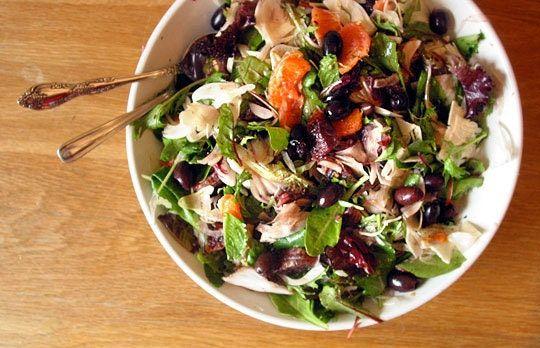 Fennel, orange and olive salad