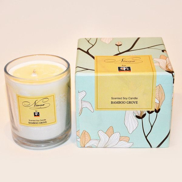 Scented Soy Candles by Niana: Niana's luxurious scented soy candles are hand-poured and made from soybeans.  Soy, unlike paraffin wax, reduces the amount of soot and smoke produced while burning.