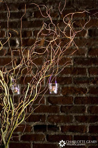 Willow Branch With Hanging Votive Candles Charlotte Geary Want To Do Something Similar This In Corner Of My Master Bedroom Add Drama