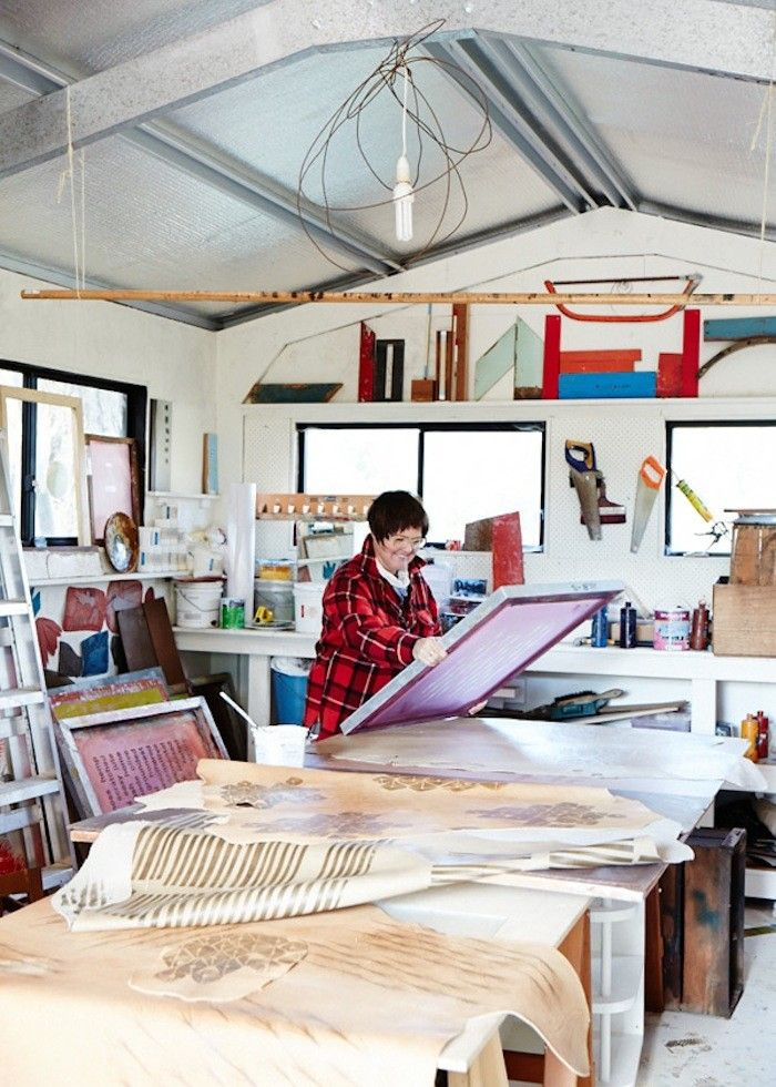 Julie Paterson of Cloth Fabric in her Studio in the Blue Mountains