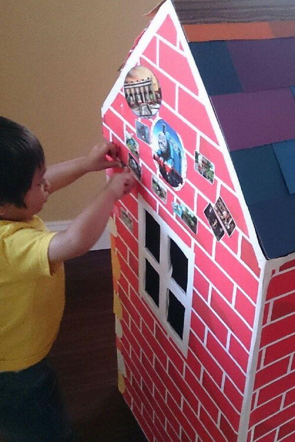 意外に簡単 ダンボールハウスを作って子どもと一緒に遊ぼう