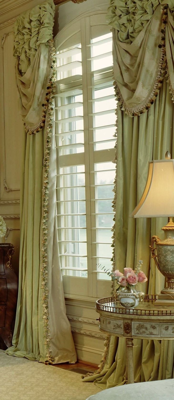 2575 best window treatments murals wallpaper images on formal swags layered over ruched draperies custom draperies shipping to all locations arched window treatments