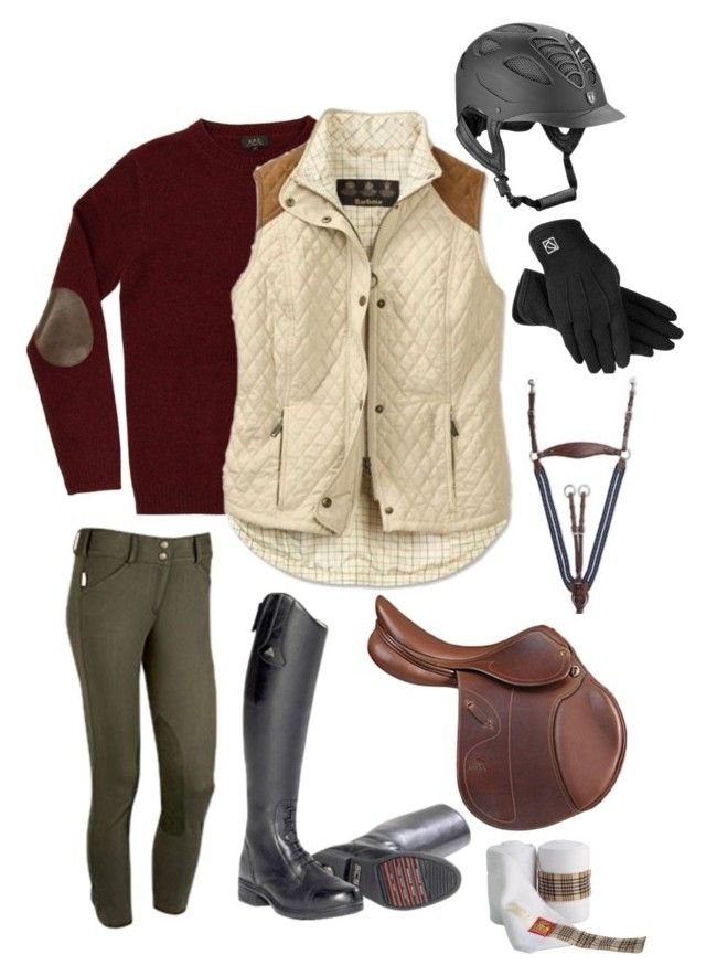 """Equestrian"" by kathy-andy ❤ liked on Polyvore featuring A.P.C. and Barbour"