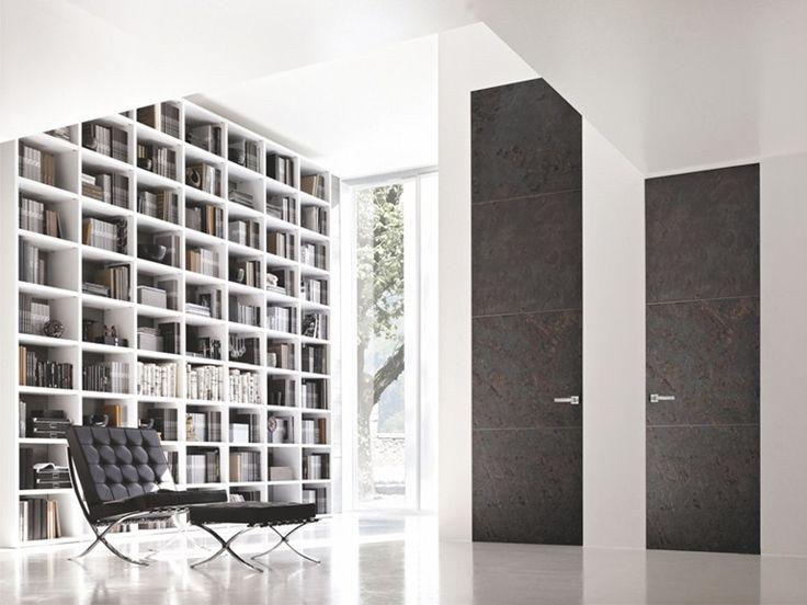 Flush-fitting wooden door B-LINE - BLUINTERNI